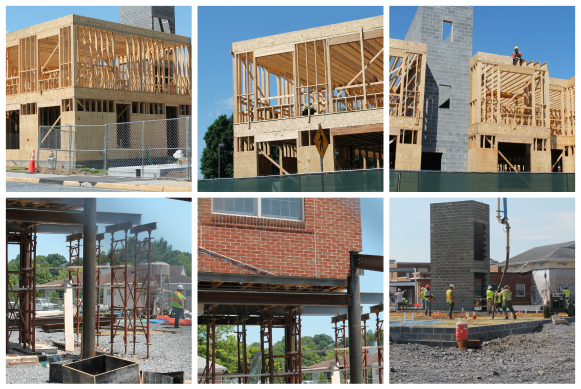 july construction updates - image collage
